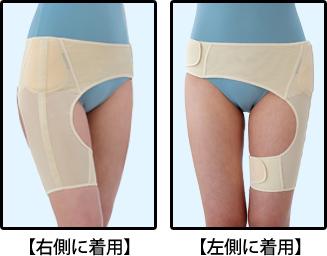 1枚で左右の股関節をサポート!