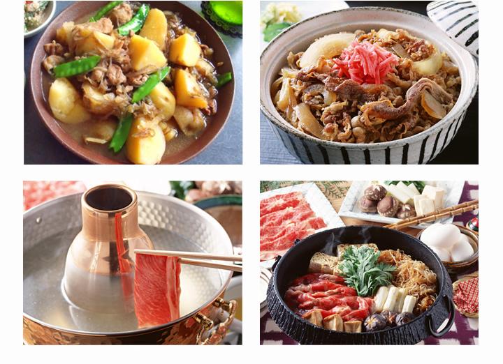 炒め物、肉じゃが、鍋や煮物などいろいろな料理に活躍