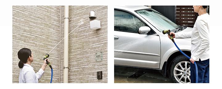 窓や壁面の洗浄、洗車イメージ