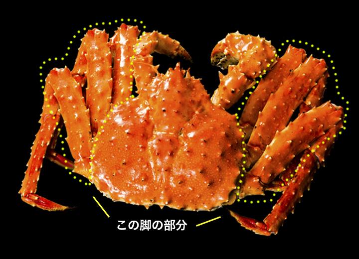 タラバの肩・脚・爪の部分