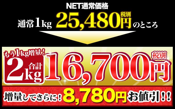 合計2kgで税別16,700円