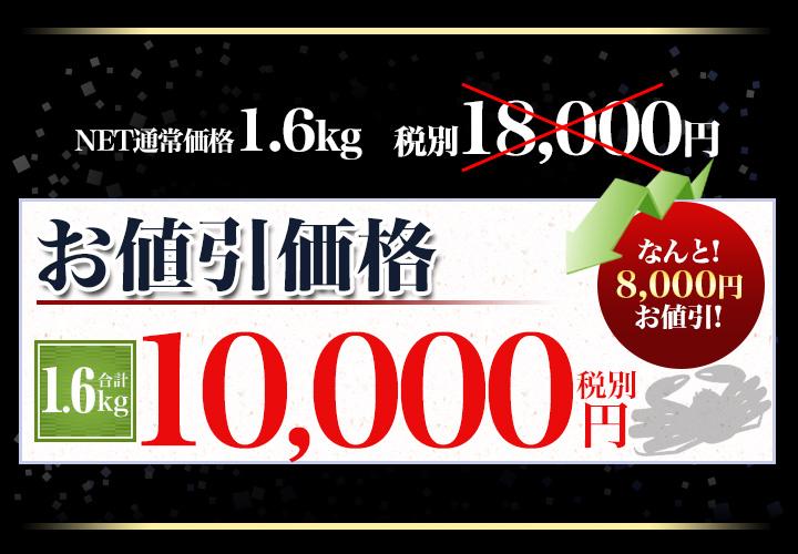 合計1.6kgで税別10,000円