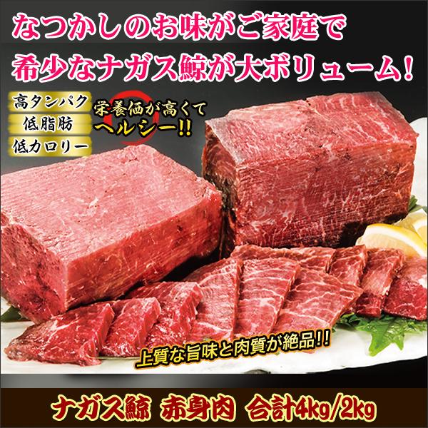 ナガス鯨 赤身肉 合計4kg(3+1kg)
