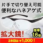 眼鏡屋が作った「ハネアゲ式ルーペ」
