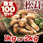 銀座高級鮨店レシピ付「今期物!高級天然松茸」1Kg/2Kg
