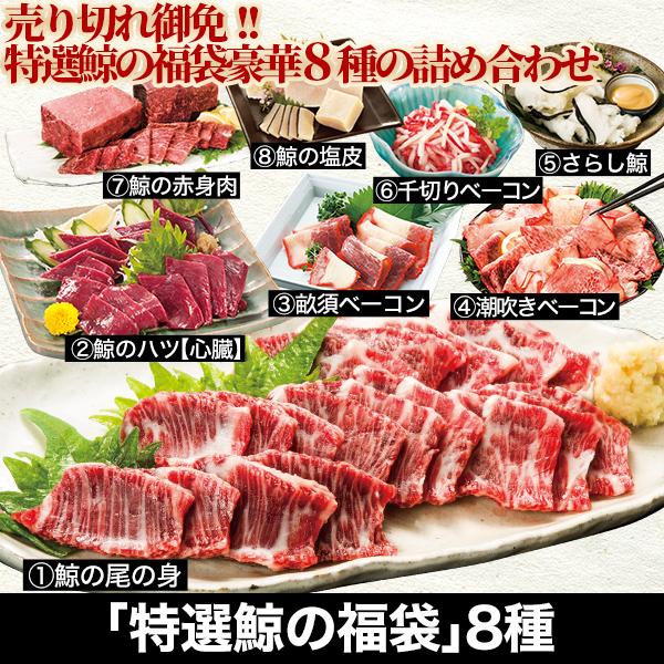 売り切れ御免!「特選鯨の福袋」8種の詰め合わせ!