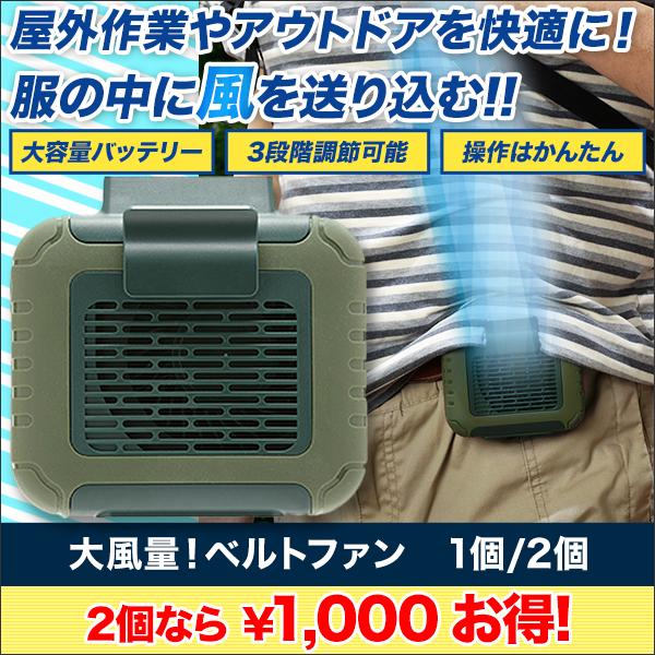 【夏本番!ビッグサマーセール】大風量!ベルトファン 1個/2個